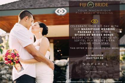 fiji wedding package exclusive offer sofitel bride bonus AU