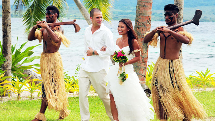 fiji wedding packages qamea resort spa