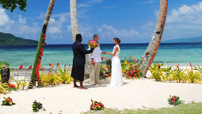 wedding packages fiji qamea resort